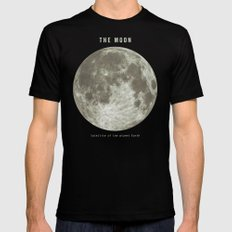 The Moon  LARGE Mens Fitted Tee Black