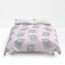 Diemond Rings on Light Pink Comforters