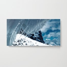 NATURE'S WONDER #1 - Icicles up in the mountains #art #society6 Metal Print