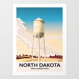 North Dakota Travel poster Art Print