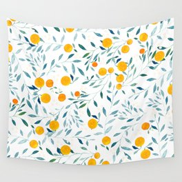 Orange Tree Wall Tapestry