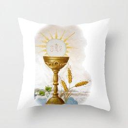 Holy communion Throw Pillow