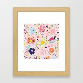 Abstract Colorful Decorative Spring Art Floral Design Pattern Framed Art Print