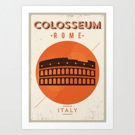 Vintage Colosseum Poster Art Print