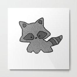 Tiny Trash Panda Metal Print