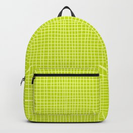 Fresh Lime Grid Backpack