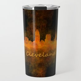 Cleveland City Skyline Hq V4 Travel Mug