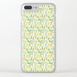 Leaves Small Clear iPhone Case