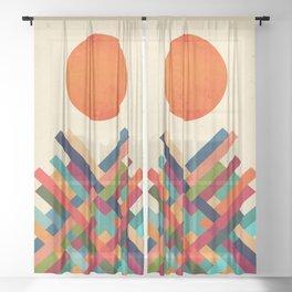Sun Shrine Sheer Curtain