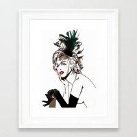 monroe Framed Art Prints featuring Monroe  by AnneSinclair11