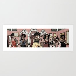 Putas rebeldes Art Print