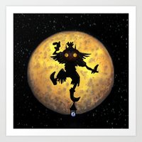 majora Art Prints featuring majora mask by neutrone