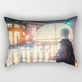 Out in the Rain - Memphis Photo Print Rectangular Pillow