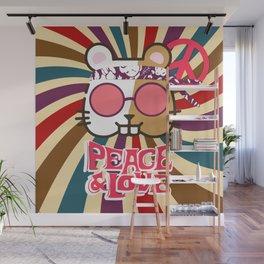 Hippie Hamster Wall Mural