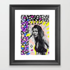 Kate Moss Tribal Far East Framed Art Print