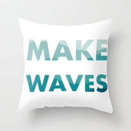 Make Waves Throw Pillow