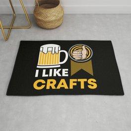 Craft Beer Lover Gift 'I Like Crafts' I Hop I Malt I Lager Rug