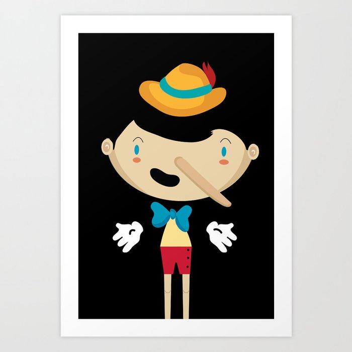 Pinochio Art Print