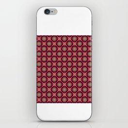 Kaleidoscope Purple Crossing Pattern iPhone Skin