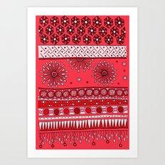 Yzor pattern 007-3 pink Art Print