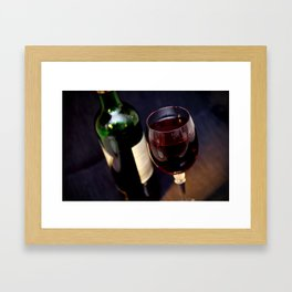 Red  Wine and Wine Glass Photograph Framed Art Print