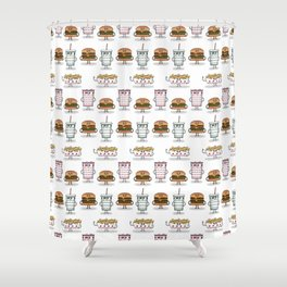 BFF: Meal Deal Shower Curtain