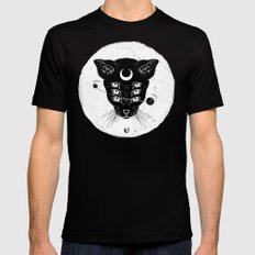 Cat Moon Black 2X-LARGE Mens Fitted Tee