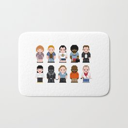 Pixel Pulp Fiction Characters Bath Mat