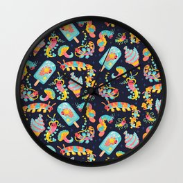 Jelly Polychaete worm - dark Wall Clock