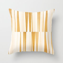 BEACHING PATTERN GOLD Throw Pillow