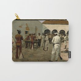 """Western Art """"Drawing of the Black Bean"""" by Frederic Remington Carry-All Pouch"""