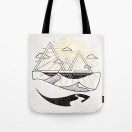 Triangle Dunes Inktober :: Destiny Laced Beneath The Deserts Tote Bag