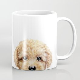 Toy poodle Dog illustration original painting print Coffee Mug
