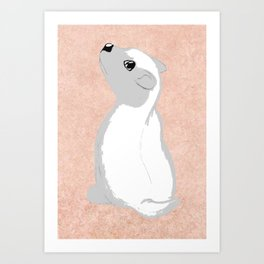 Baby Honey Badger Art Print