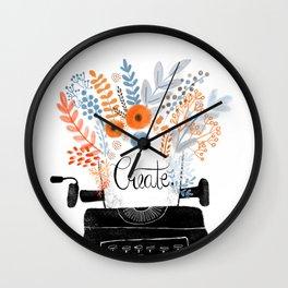 Create | Typewriter Wall Clock