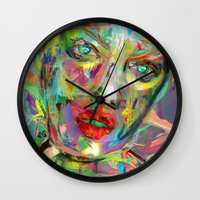 archan nair Wall Clocks featuring Ultraviolet Drops by Archan Nair