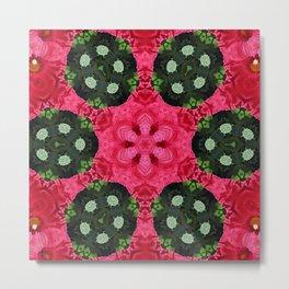 blob flower mandala Metal Print