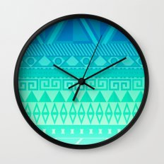 Blue Mayan Wall Clock