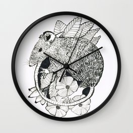 autumn rat Wall Clock