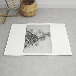 USA Soldiers Drawing Rug