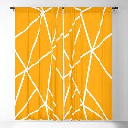 ABSTRACT DESIGN (WHITE-ORANGE) Blackout Curtain