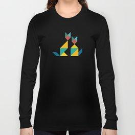 Tangram Cats 1 Long Sleeve T-shirt