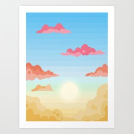 Changing Skies Art Print