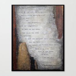 Buechner I Canvas Print