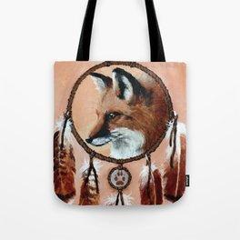 Fox Medicine Wheel Tote Bag
