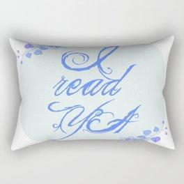 I read YA (blue) Rectangular Pillow