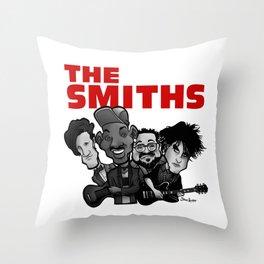 The Smiths (white version) Throw Pillow