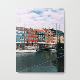 Nyhavn Copenhagen on a Late Summer Day Metal Print