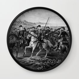 Robert E. Lee and His Generals Wall Clock