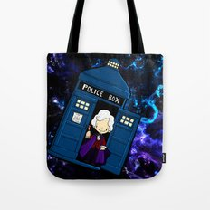Tardis in space Doctor Who 3 Tote Bag